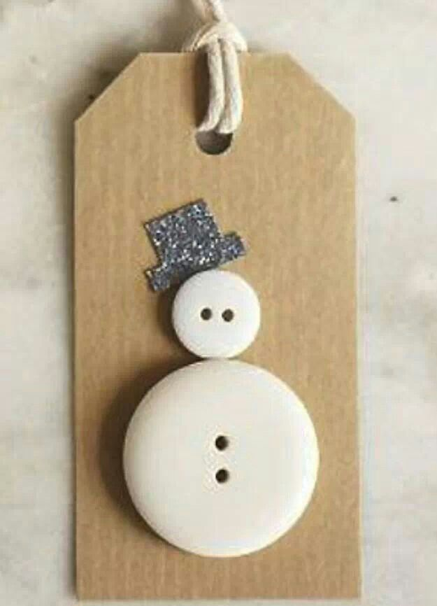 Not a big fan of the tag but like the button snow man idea