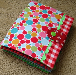 a great quiet book binder/cover for holding multiple pages!