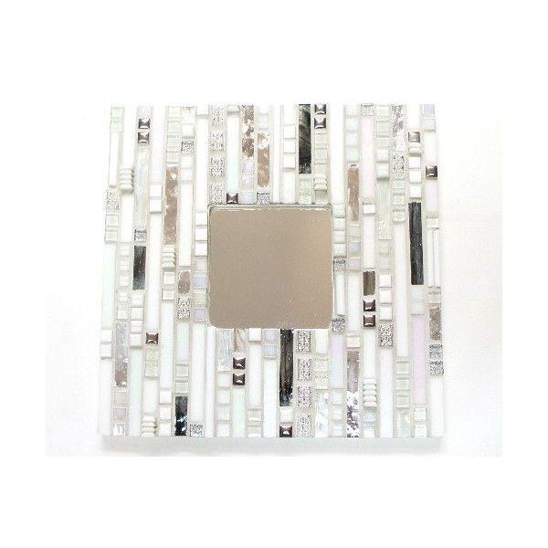 Kit mosaïque miroir blanc et argent
