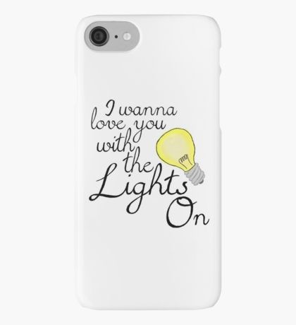 Lights On Lyric - Shawn Mendes iPhone Case/Skin