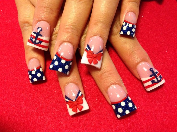 Sailor nails - Nail Art Gallery