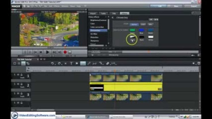 Tilt Shift Miniature Video Tutorial in Magix Movie Edit Pro Plus