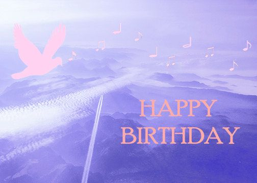 A6 Greeting Card Dove and Plane Trails Birthday Card by Fast4Wards