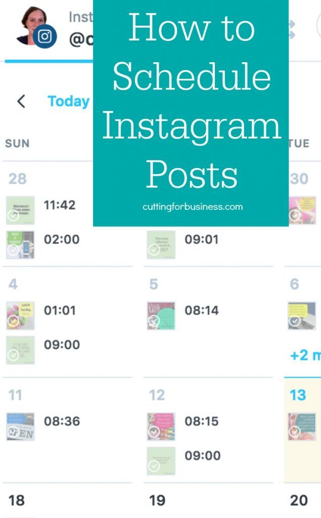 Scheduling Instagram Posts for Your Silhouette or Cricut Business by cuttingforbusiness.com