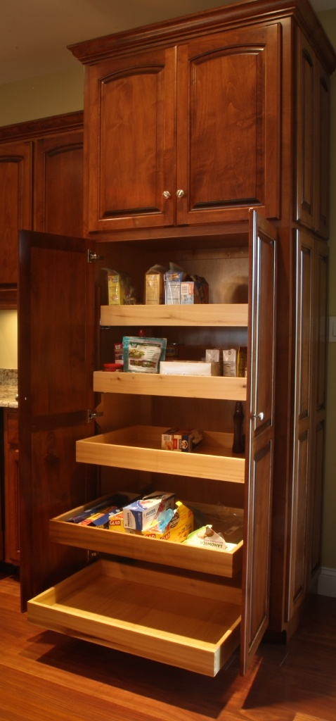 Pantry With Roll Out Shelves Amish Handcrafted