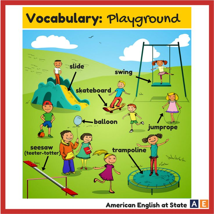 The playground.. #AmericanEnglishatState. An outdoor place ...