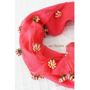 画像: メルシン地区 華やかイーネオヤのお花付スカーフ