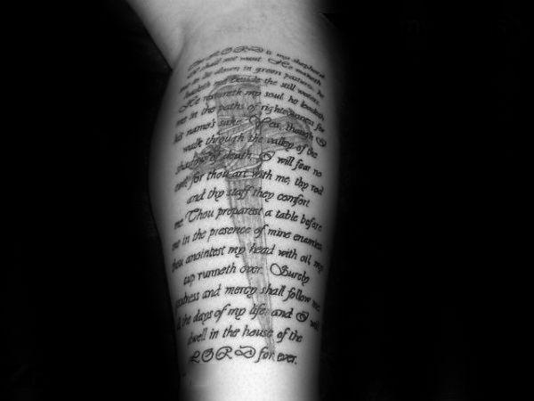 40 Psalm 23 Tattoo Designs For Men Bible Verse Ink Ideas Psalm 23 Tattoo Bible Verse Tattoos Tattoo Designs Men