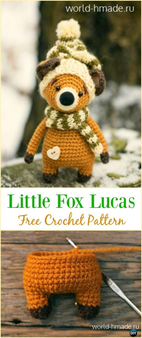 Crochet Little Fox Lucas Amigurumi Free Pattern - Crochet Amigurumi #Fox Free Patterns