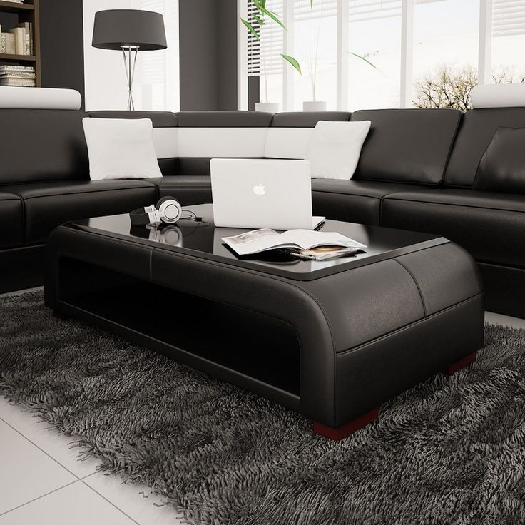 glass tables for living room. Divani Casa Modern Black Bonded Leather Coffee Table w  Glass Top Color BlackUpholstered In LeatherBlack Beveled TopStorage AreaAvailable 12 best Living Room images on Pinterest Construction