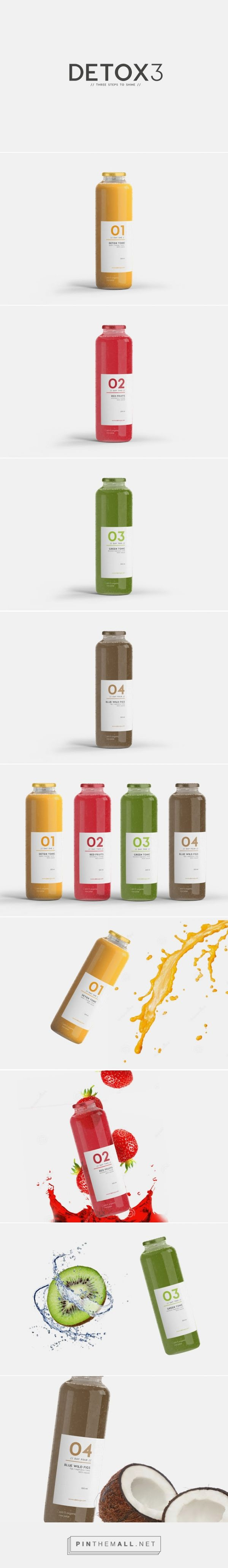 DETOX 3  drink beverage on Packaging of the World - Creative Package Design Gallery  http://www.packagingoftheworld.com/2016/01/detox-3.html
