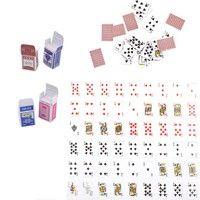Cute Mini Dollhouse Miniature Poker Card Playing Game Kid Barbie Doll Home Decor Quantity: 1 Set Siz