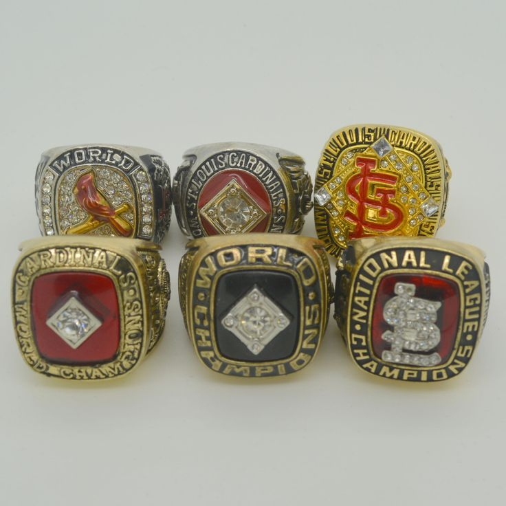 1964 1967 1982 1985 2006 2011 St. Louis Cardinals World Series Championship Rings