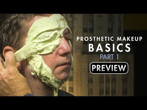 Makeup Effects Tutorial - Prosthetic Makeup Basics: Gelatin Facial Appliances Part 1 with Rob Burman