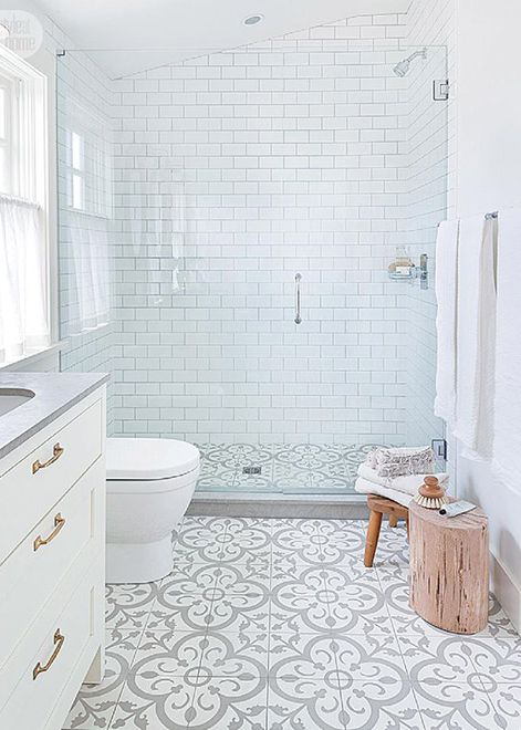 Best 25+ Bathroom Floor Tiles Ideas On Pinterest | Grey Patterned Tiles,  Bathrooms With Subway Tile And Bathrooms