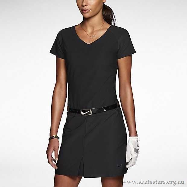 Nike Golf Dress Tour Premium NEW $130 Large 619770 010 Black w/ shorts no belt #Nike
