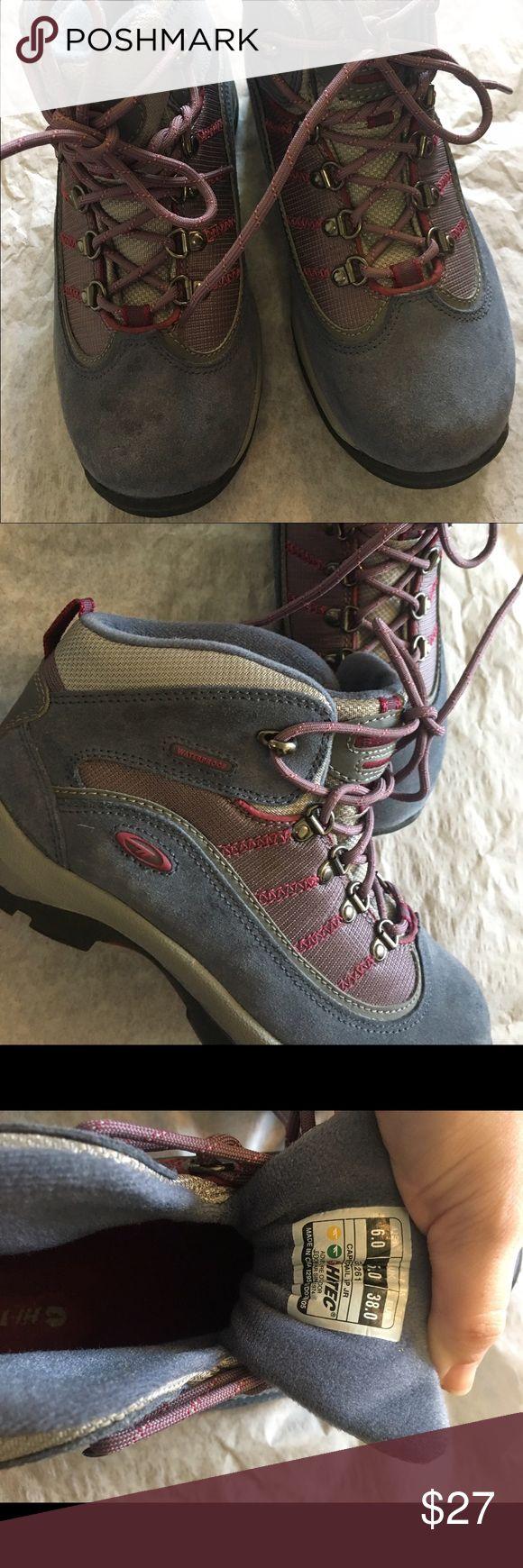 NWOT Hi-Tec Hiking Boots New without tags purple women's Hi-Tec Cape Trail hiking boots. Waterproof. Never worn. Women's size 6. Hi-Tec Shoes Winter & Rain Boots