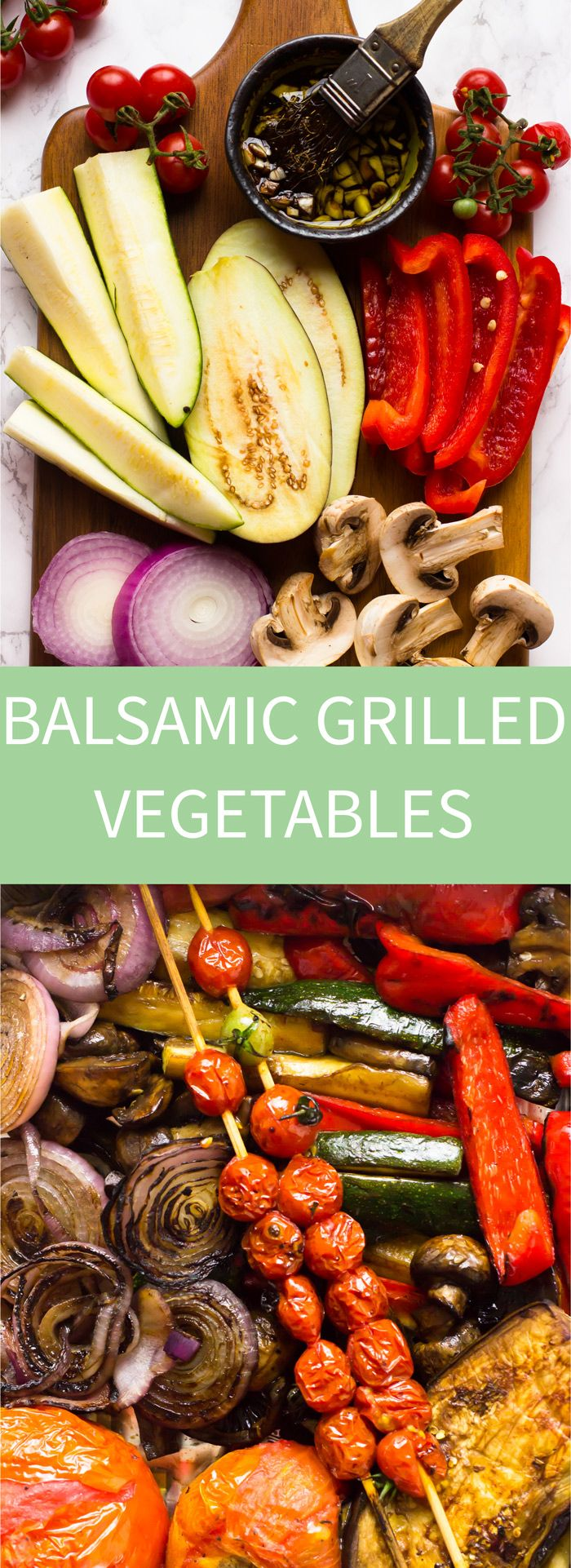 These Balsamic Grilled Vegetables are marinated in the most flavourful balsamic dressing and come out so juicy and delicious!