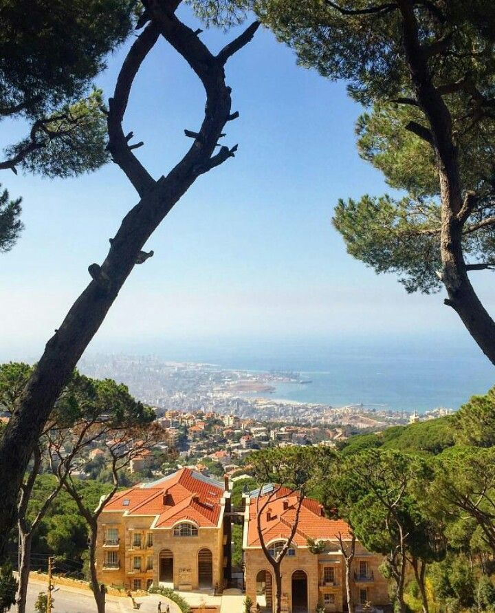 The view from Broumana, Lebanon                                                                                                                                                                                 More
