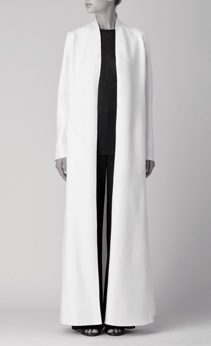 Long White Coat - minimal fashion, chic minimalist style // The Row