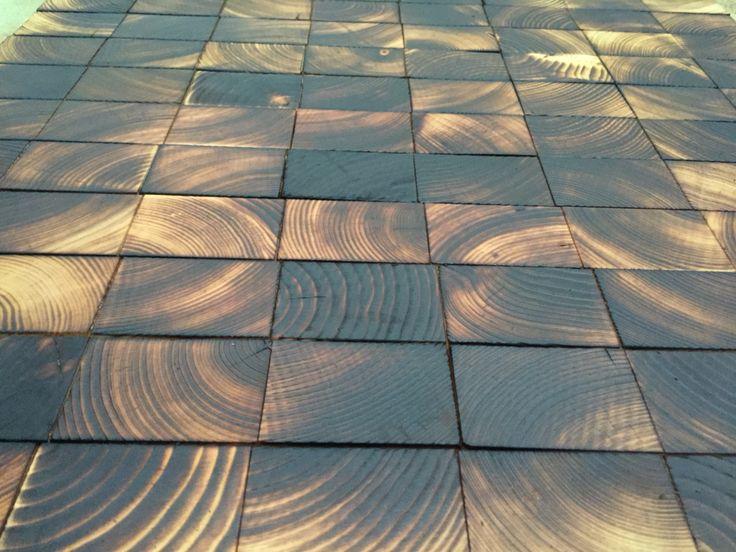 Sample of burned block flooring.