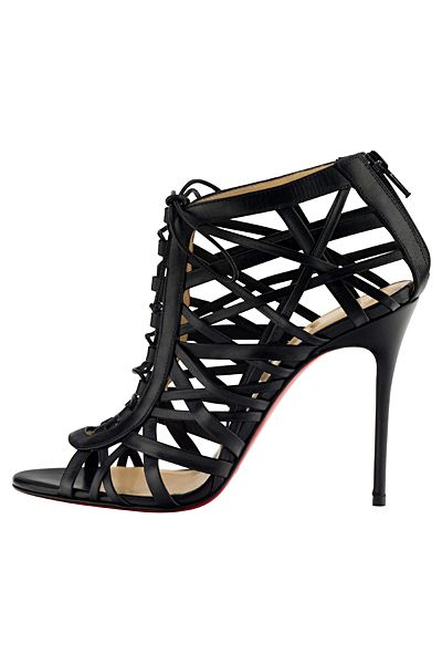 Christian Louboutin Black Cage Ankle Boots ~ Spring-Summer 2014