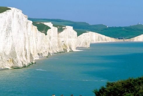 White Cliffs of Dover.  Beautiful scenery.