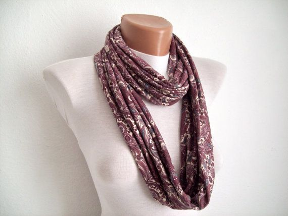Infinity scarf Loop scarf Neckwarmer Necklace scarf  by scarfnurlu