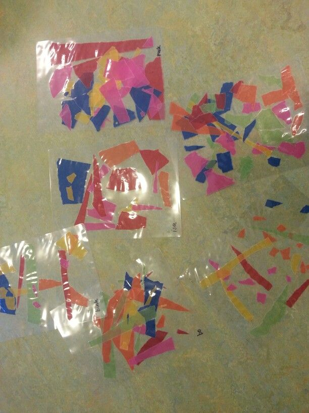 Vliegerpapier scheuren.