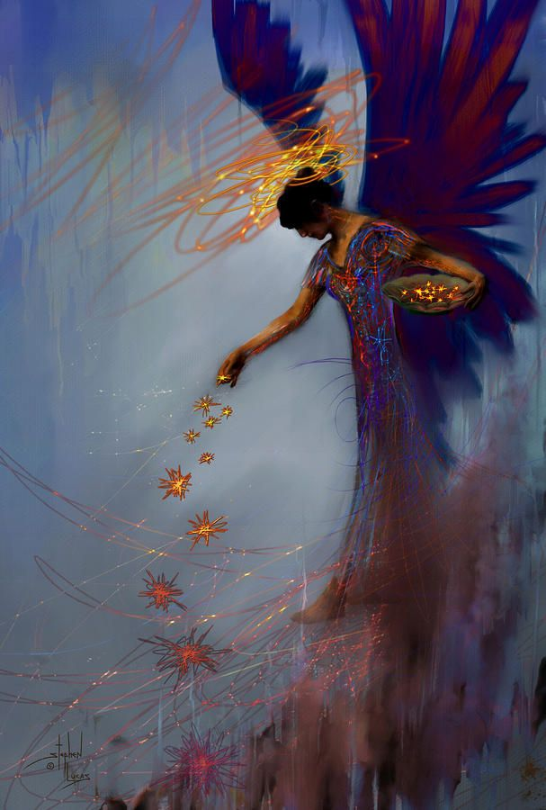 Dancing The Lifes Web Star Gifter Does by Stephen LucasLights, Concept Photography, Angels Painting, Angels Art, Magic, Fairies, Stars, Digital Art, Art Prints