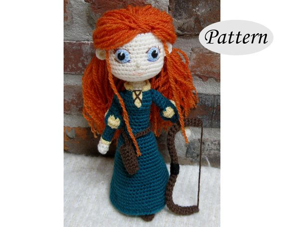 PATTERN  MERIDA  Amigurumi  Crochet Doll  by CrochetCuteDolls