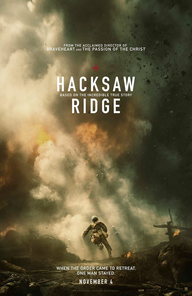 When the order came to retreat, one man stayed.  Based on the incredible true story. #HacksawRidge  – In theaters November 4.