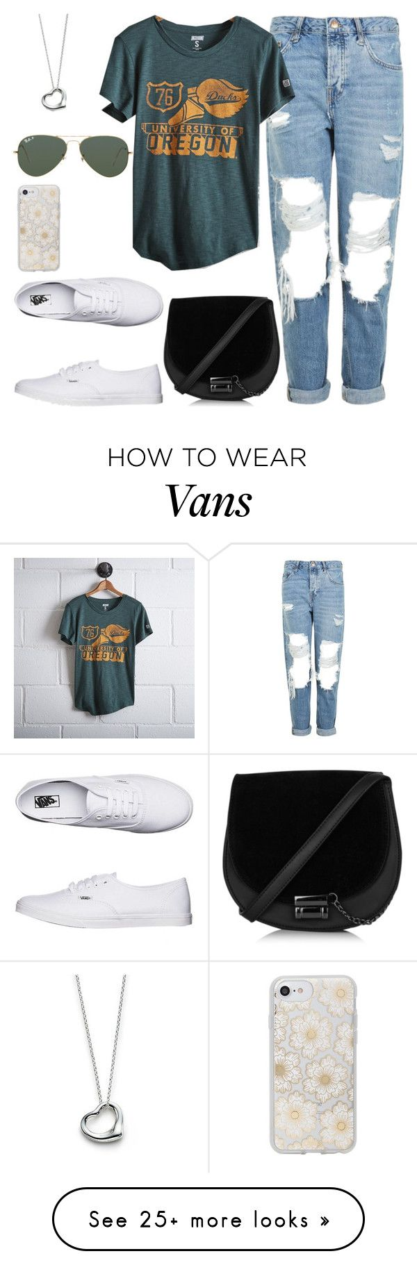 """Untitled #175"" by findthefinerthings on Polyvore featuring Vans, Topshop, Tailgate, Elsa Peretti, Ray-Ban and Sonix"
