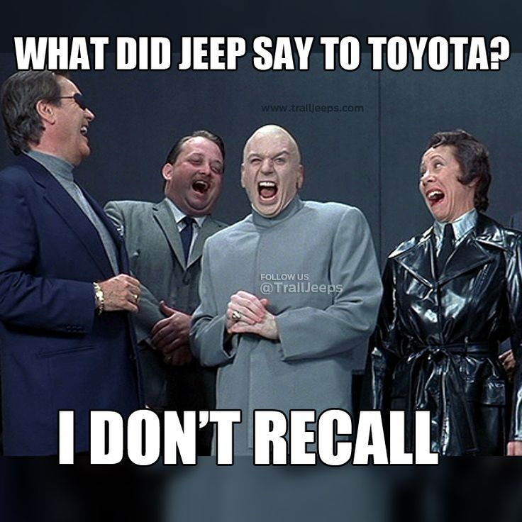 What did the Jeep say to the Toyota?