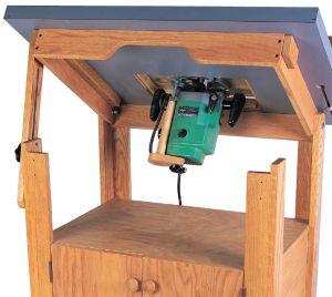 Tilt-top Router Table