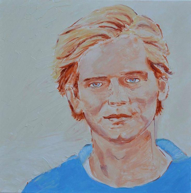 Mariska Sens. Rogier. portret van mijn zoon als voorbeeld hoe ik portretten schilder