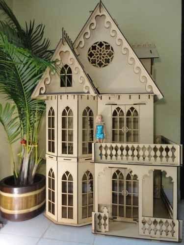 casa gotica + 23 muebles para barbie, monster high, bratz