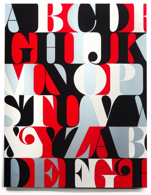 Caslon alphabet print