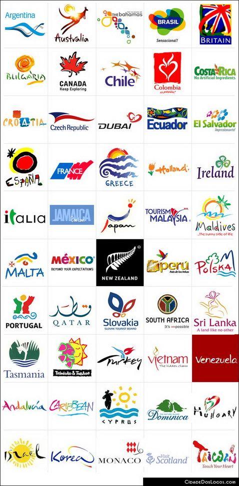 Logotipos de grandes destinos turísticos.