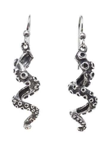 """Tentacle"" Earring by RockLove Jewelry (Silver) .... WANT!!!!!"