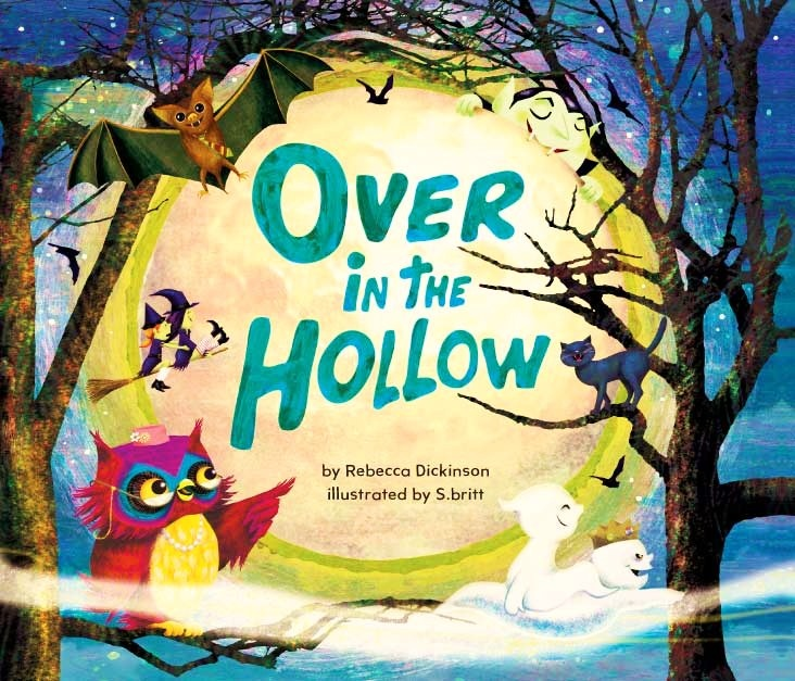 The BEST children's book for Halloween!! Over in the Hollow!  Mom's blog about a counting, rhyming, not-too-spooky book with owls, bats, werewolves, ghosts, mummies, frankenstein, cats, witches and more! Includes a family and counting lesson plan idea and yummy halloween treat links!  ages 3-7