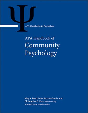 This two-volume handbook summarizes and makes sense of exciting intellectual developments in the field of community psychology.