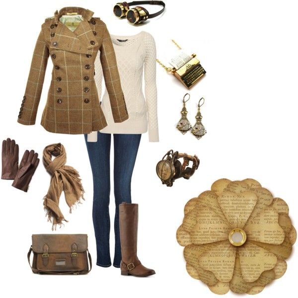 Casual Steampunk by anikiam on Polyvore featuring polyvore, fashion, style, Jane Norman, Libertine, Koral, Lucky, ASOS, A Peace Treaty and Banana Republic