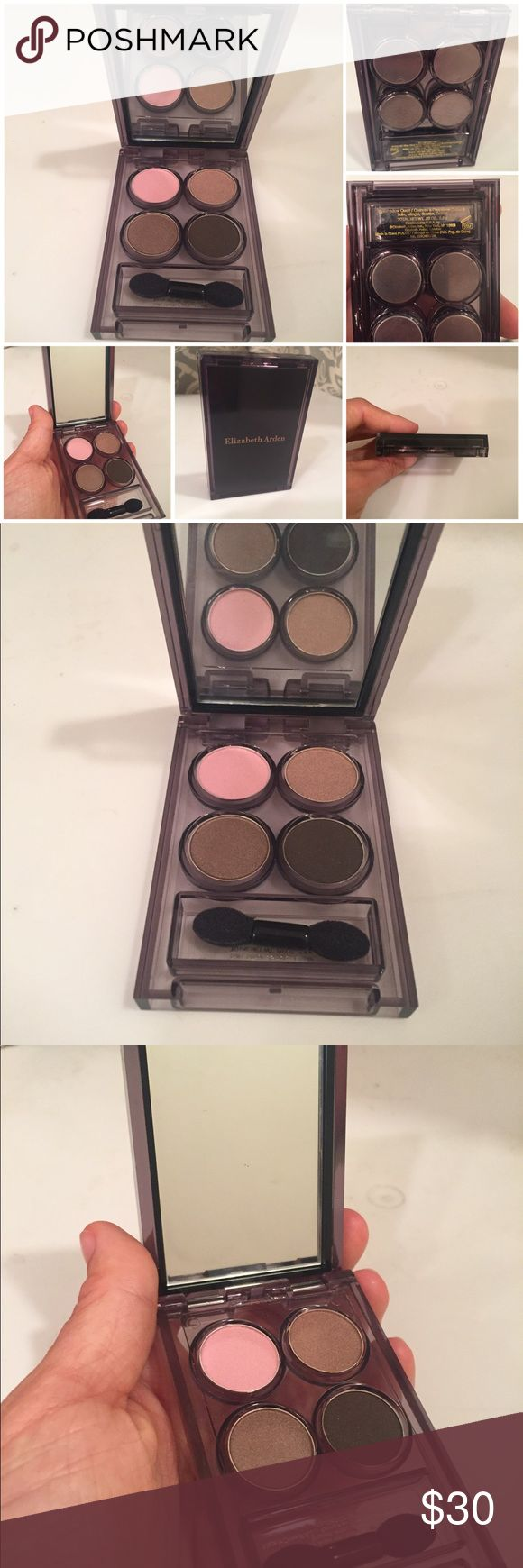 NEW Elizabeth Arden Eyeshadow Quad New, never used, Elizabeth Arden eyeshadow quad compact with mirror and clean brush: tulle, mingle, smoke, & ember (2.8g). From a clean and smoke free home. Please ask questions prior to purchasing. Elizabeth Arden Makeup Eyeshadow