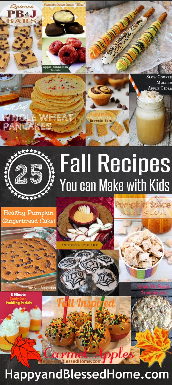 How about a list of 30 Delicious Fall Recipes you can make with Kids? Oh, and a $2,000 cash giveaway? Pumpkin bread, pretzel sticks, carmel apples, chex mix and more from HappyandBlessedHome.com