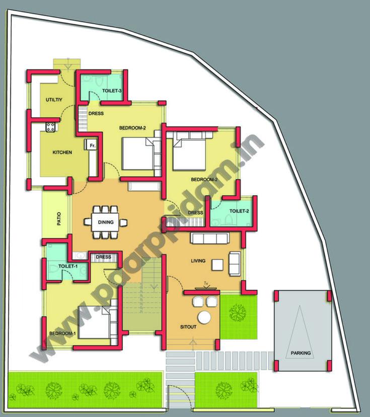 contemporary villa design for kerala house plans