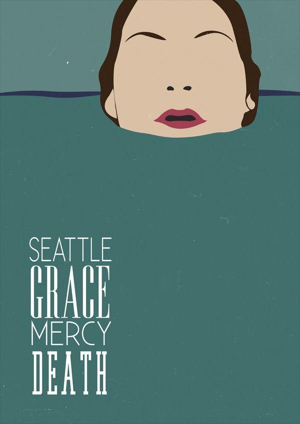 Seattle Grace Mercy Death Minimalist Tv Serie Poster ...