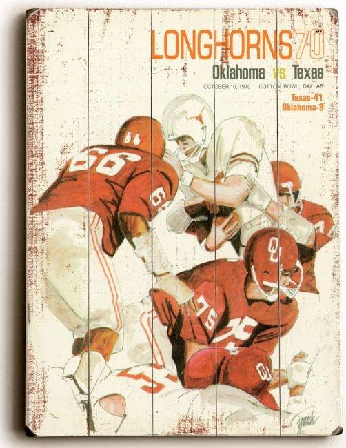 1970 Game Program between University of Texas and OU #kendrascott  #teamKS
