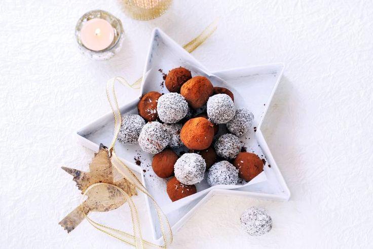 Kijk wat een lekker recept ik heb gevonden op Allerhande! Chocoladetruffels