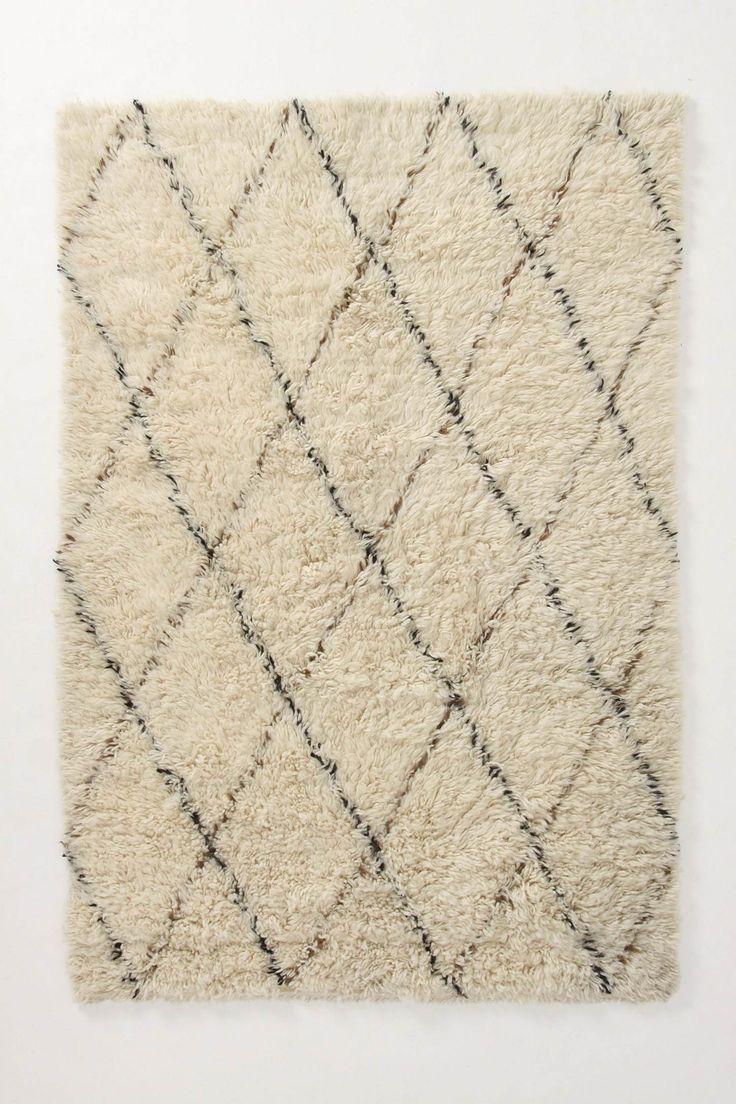 flokati diamond rug | Vintage moroccan rugs | Beni ourain rug